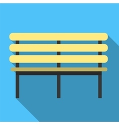 Bench flat icon vector