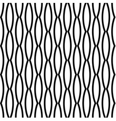 black and white seamless wavy line pattern vector image