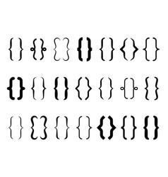 Brackets vintage curly brace typography symbols vector