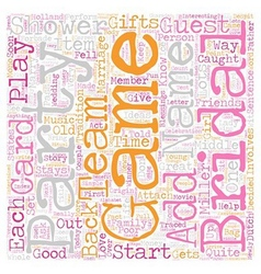 Bridal Shower Games Ideas text background vector