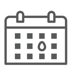 calendar line icon month and day reminder sign vector image