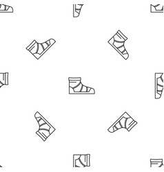camp boot pattern seamless vector image