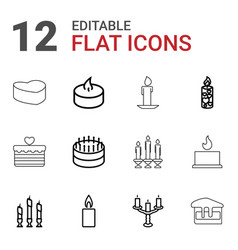 Candle icons vector