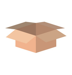 Color silhouette with box of cardboard opened vector