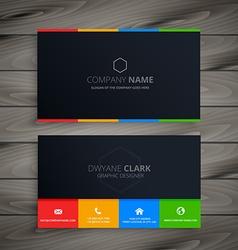 dark clean business card vector image
