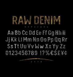 Denim label font 001 vector