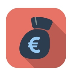 Euro flat icon vector image