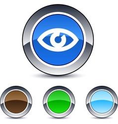 eye round button vector image