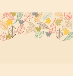 Fall leaves background vector