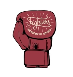 Fighters academy boxing hand drawn boxing vector