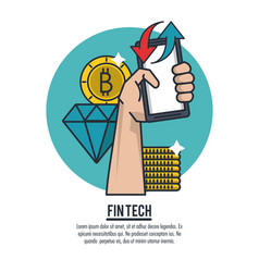 Finance and technology vector