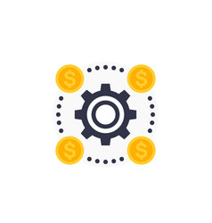 Financial operations concept icon on white vector