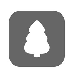 fir-tree icon fir-tree logo flat design vector image vector image