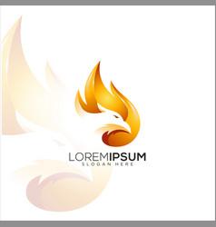fire eagle logo design vector image