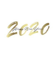 Golden inscription happy new year 2020 vector