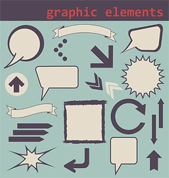 Graphic elements set vector