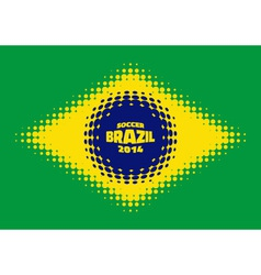 Halftone Flag of Brazil vector image
