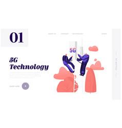 High- speed communication technologies website vector