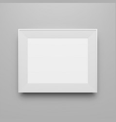 Horizontal white empty frame template vector