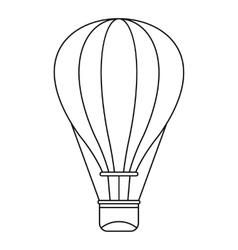 Hot air balloon icon outline style vector
