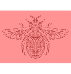 Humble-bee color drawing vector