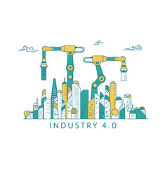industryfuture2 vector image