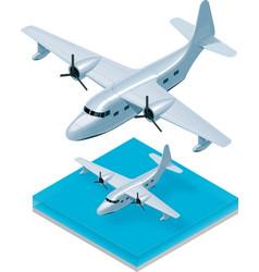 Isometric seaplane vector