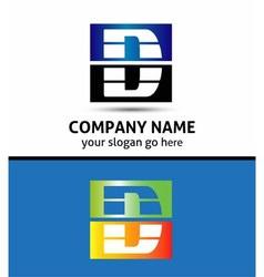 Letter D logo symbol vector