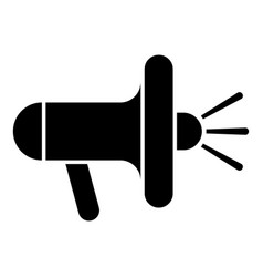 loudspeaker megaphone icon black color vector image