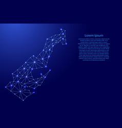 Monaco map polygonal futuristic mosaic lines vector