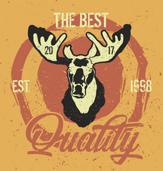 Moose head label vector