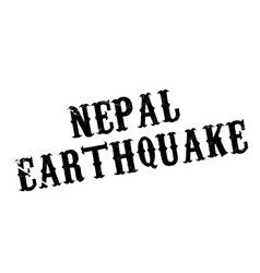 nepal earthquake rubber stamp vector image