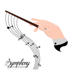 Orchestra director hand icon vector
