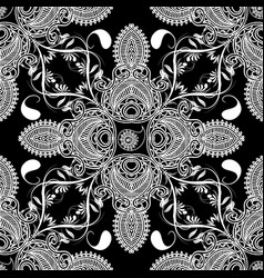 paisley floral seamles pattern vector image