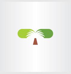 palm tree clip art logo icon symbol vector image