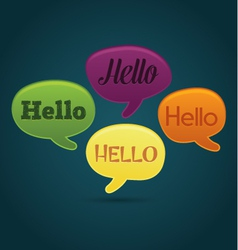 Playful dialog bubbles with hello text vector