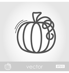 Pumpkin outline icon Harvest Thanksgiving vector image