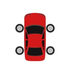 Repair car wheel flat icon vector