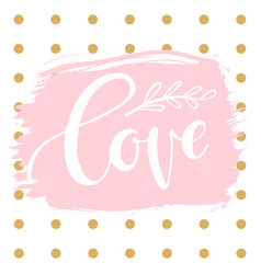 romantic background with word - love vector image