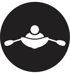 Rowing icon vector
