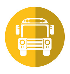 School bus transport design shadow vector