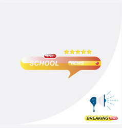 school news icon for journalism of news tv vector image