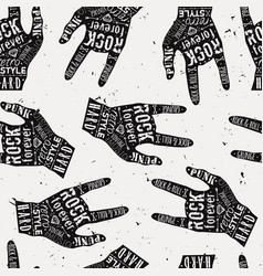seamless grunge pattern with vintage hand labels vector image