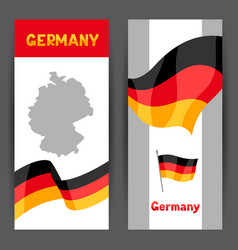 set banners with flags and map germany vector image