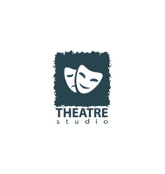 set of theater studio logo design vector image