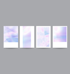 set template with soft holographic shapes vector image