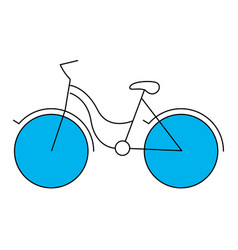 silhouette color section of tourist bike icon vector image