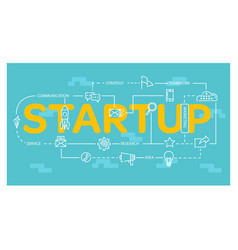startup design with many element inside and many vector image