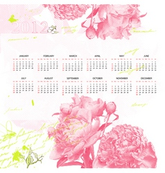 stylized calendar for 2012 vector image
