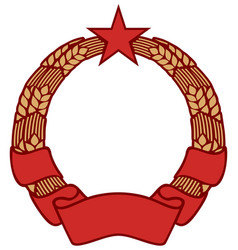 symbol of communism with wreath of wheat and star vector image